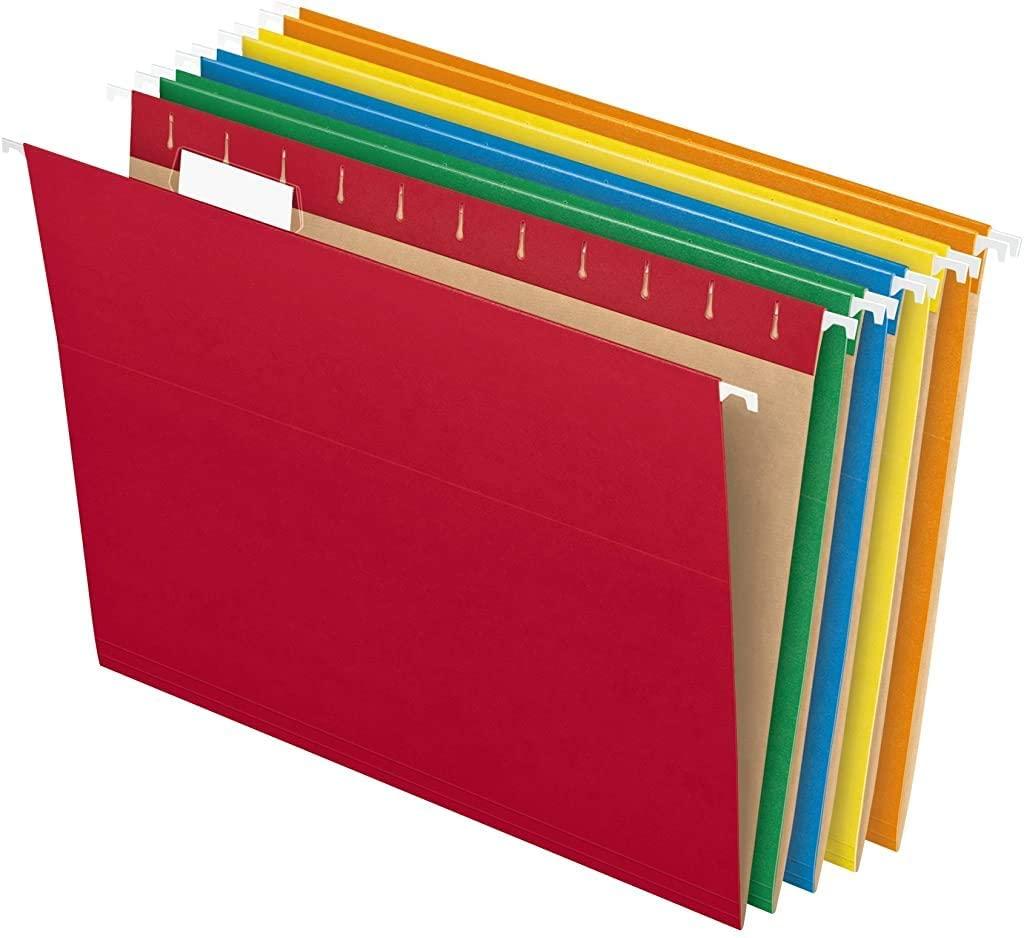 colored hanging folders