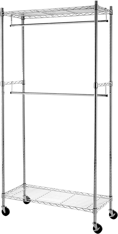 double hanging garment rack